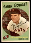 1959 Topps #87  Danny O'Connell  Front Thumbnail