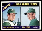 1966 Topps #568   -  Paul Lindblad / Ron Stone Athletics Rookies Front Thumbnail