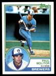 1983 Topps #630  Paul Molitor  Front Thumbnail