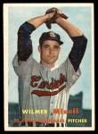 1957 Topps #113  Wilmer Mizell  Front Thumbnail