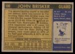 1971 Topps #180  John Brisker  Back Thumbnail