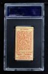 1911 T205  Ira Thomas  Back Thumbnail