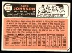 1966 Topps #104 xTR Alex Johnson   Back Thumbnail