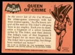 1966 Topps Batman Black Bat #26   Queen of Crime Back Thumbnail