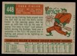 1959 Topps #448  Vada Pinson  Back Thumbnail