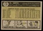 1961 Topps #170  Al Smith  Back Thumbnail