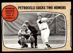 1968 Topps #156   -  Rico Petrocelli / Tim McCarver World Series - Game #6 - Petrocelli Socks Two Homers Front Thumbnail