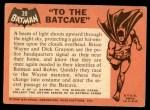 1966 Topps Batman Black Bat #39   To the Batcave Back Thumbnail