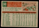 1959 Topps #340  Roy Sievers  Back Thumbnail