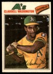 1977 Topps Cloth Stickers #50  Claudell Washington  Front Thumbnail