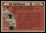 1980 Topps #201  Ed Newman  Back Thumbnail
