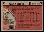 1980 Topps #414  Gary Shirk  Back Thumbnail