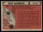 1980 Topps #497  Guy Morriss  Back Thumbnail