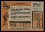 1975 Topps #230  Tom Lysiak   Back Thumbnail