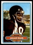 1980 Topps #63  Allan Ellis  Front Thumbnail