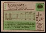 1984 Topps #258  Ed Murray  Back Thumbnail
