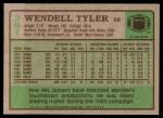 1984 Topps #361  Wendell Tyler  Back Thumbnail