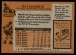 1975 Topps #198  Guy Lapointe   Back Thumbnail
