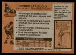 1975 Topps #305  Pierre Larouche   Back Thumbnail