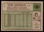 1984 Topps #65  Tom Jackson  Back Thumbnail