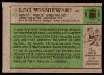 1984 Topps #20  Leo Wisniewski  Back Thumbnail