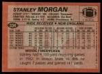 1983 Topps #334  Stanley Morgan  Back Thumbnail