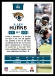 2016 Score #152  Allen Hurns  Back Thumbnail