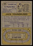 1974 Topps #509  Jack Youngblood  Back Thumbnail