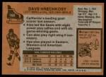 1975 Topps #156  Dave Hrechkosy   Back Thumbnail