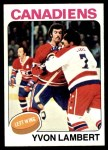 1975 Topps #17  Yvon Lambert   Front Thumbnail