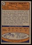 1974 Topps #41  Tracy Pratt  Back Thumbnail