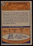 1974 Topps #225  Jim Rutherford  Back Thumbnail