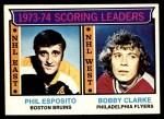 1974 Topps #3   -  Phil Esposito / Bobby Clarke Scoring Leaders Front Thumbnail