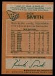 1978 Topps #164  Rick Smith  Back Thumbnail