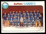 1978 Topps #194   Sabres Team Checklist Front Thumbnail