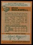 1978 Topps #216  Bryan Maxwell  Back Thumbnail