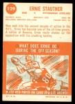 1963 Topps #129  Ernie Stautner  Back Thumbnail