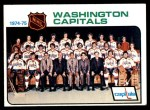 1975 Topps #98   Capitals Team Checklist Front Thumbnail
