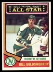 1974 Topps #134   -  Bill Goldsworthy All-Star Front Thumbnail