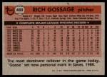 1981 Topps #460  Goose Gossage  Back Thumbnail