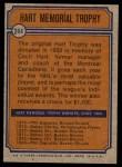 1974 Topps #244  Phil Esposito  Back Thumbnail