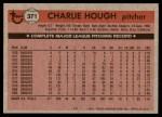 1981 Topps #371  Charlie Hough  Back Thumbnail