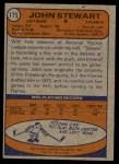 1974 Topps #175  John Stewart  Back Thumbnail