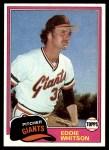 1981 Topps #336  Ed Whitson  Front Thumbnail