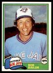 1981 Topps #297  Bob Bailor  Front Thumbnail