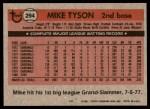 1981 Topps #294  Mike Tyson  Back Thumbnail