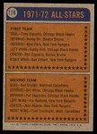 1974 Topps #128   -  Ken Hodge All-Star Back Thumbnail