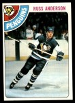 1978 Topps #156  Russ Anderson  Front Thumbnail