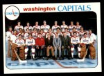 1978 Topps #208   Capitals Team Checklist Front Thumbnail
