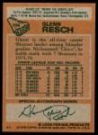 1978 Topps #105  Glenn Resch  Back Thumbnail